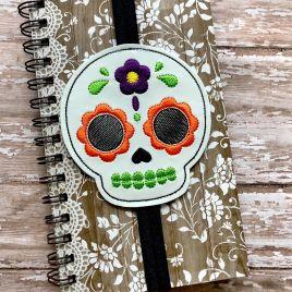 ITH – Sugar Skull – Book Band – Digital Embroidery Design