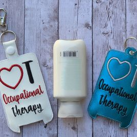 ITH Occupational Therapy Hand Lotion Holder 5×7 included- DIGITAL Embroidery DESIGN