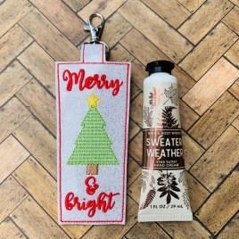 ITH Merry & Bright Hand Cream Holder 5×7 – DIGITAL Embroidery DESIGN