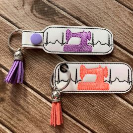 ITH Sewing Machine EKG Fobs – 4×4 and 5×7 grouped-DIGITAL Embroidery DESIGN