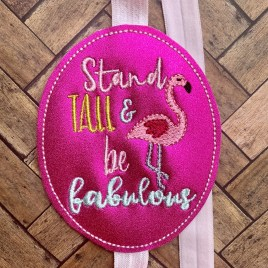 ITH – Stand Tall & Be Fabulous Flamingo – Book Band – Digital Embroidery Design