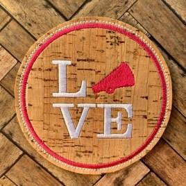ITH Love Cheer Coaster 4×4 – DIGITAL Embroidery DESIGN