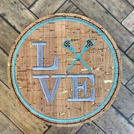 ITH Love Lacrosse Coaster 4×4 – DIGITAL Embroidery DESIGN