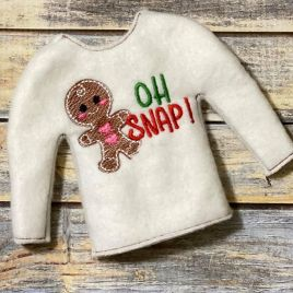 ITH – Oh Snap! Gingerbread Doll Sweater 5×7 – Digital Embroidery Design