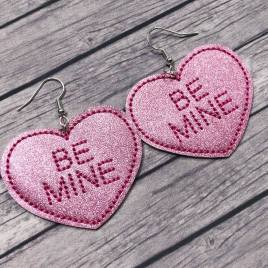ITH – Be Mine Heart Felties – 3 sizes – 4×4 and 5×7 Grouped- Digital Embroidery Design