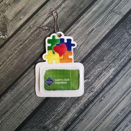 ITH – Autism Awareness Horizontal ID Holder 5×7 – Digital Embroidery Design