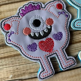 ITH – Love Monster Number 2 Felties – 3 sizes – 4×4 and 5×7 Grouped- Digital Embroidery Design