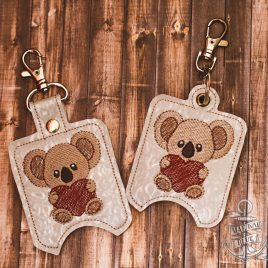 ITH Koala Heart Sanitizer Holders 4×4 and 5×7 included- DIGITAL Embroidery DESIGN