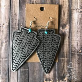 ITH – Arrowhead Earrings – 3 sizes – 4×4 and 5×7 Grouped- Digital Embroidery Design