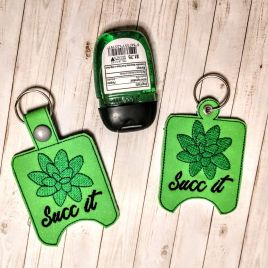 ITH Succ It Sanitizer Holders 4×4 and 5×7 included- DIGITAL Embroidery DESIGN