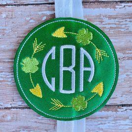 ITH – Four leaf clover frame – Book Band – Digital Embroidery Design