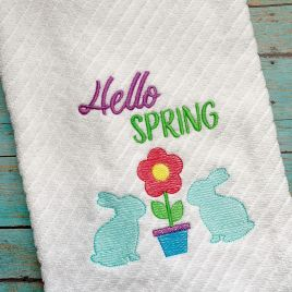 Hello Spring – 3 Sizes – Digital Embroidery Design