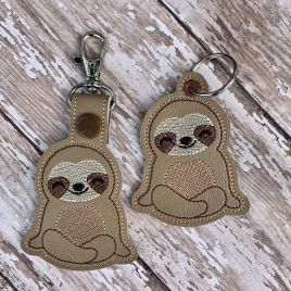 ITH Sloth Fobs 4×4 and 5×7 included –  DIGITAL Embroidery DESIGN