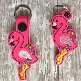 ITH Floating Flamingo Fobs 4×4 and 5×7 included –  DIGITAL Embroidery DESIGN