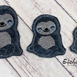 ITH – Sloth Felties – 3 sizes – 4×4 and 5×7 Grouped- Digital Embroidery Design