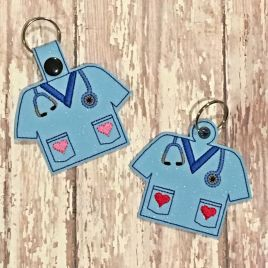 ITH Healthcare Heart Tab and eyelet Fobs 4×4 and 5×7 included- DIGITAL Embroidery DESIGN