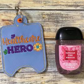 ITH Healthcare Hero Sanitizer Holders 4×4 and 5×7 included- DIGITAL Embroidery DESIGN