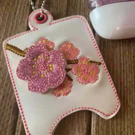ITH 3D Cherry Blossom Sanitizer Holders 4×4 and 5×7 included- DIGITAL Embroidery DESIGN