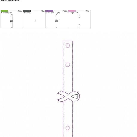 Mask extender Awareness ribbon 5×7 single