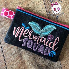 ITH – Mermaids Squad Zipper Bag – 2 sizes – Digital Embroidery Design