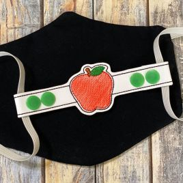 ITH Mask Extender Apple – 2 sizes – DIGITAL Embroidery DESIGN