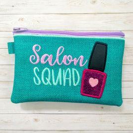 ITH – Salon Squad Zipper Bag – 2 sizes – Digital Embroidery Design