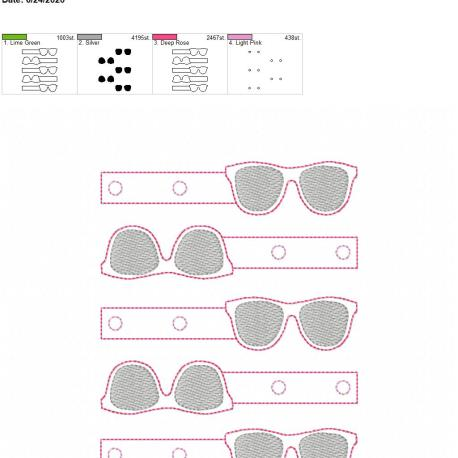Glasses Snaptab 5×7 grouped