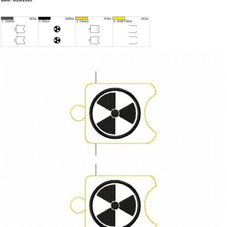 Radiation sanitizer holder eyelet 5×7 grouped