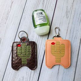 ITH Cactus Sanitizer Holders 4×4 and 5×7 included- DIGITAL Embroidery DESIGN
