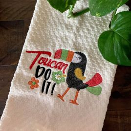 Toucan Do It – 2 Sizes – Digital Embroidery Design