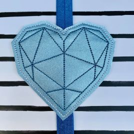 ITH – Geometric Heart – Book Band – Digital Embroidery Design
