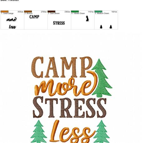 Camp more stress less 5×7