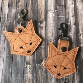 ITH Geo Fox Fobs 4×4 and 5×7 included- DIGITAL Embroidery DESIGN