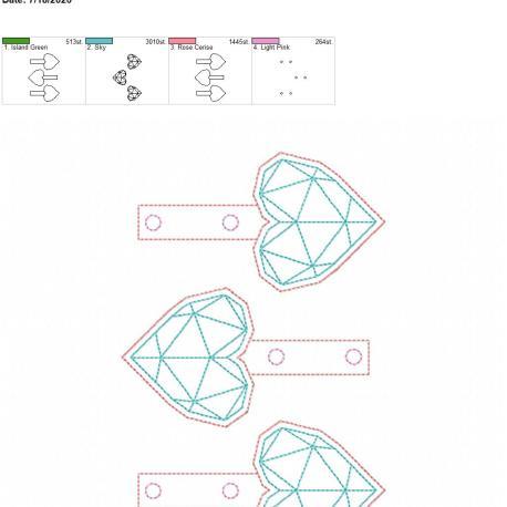 Geometric Heart Snaptab 5×7 grouped
