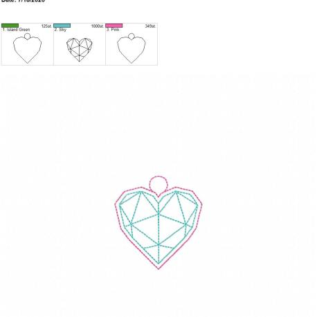 Geometric Heart eyelet 4×4