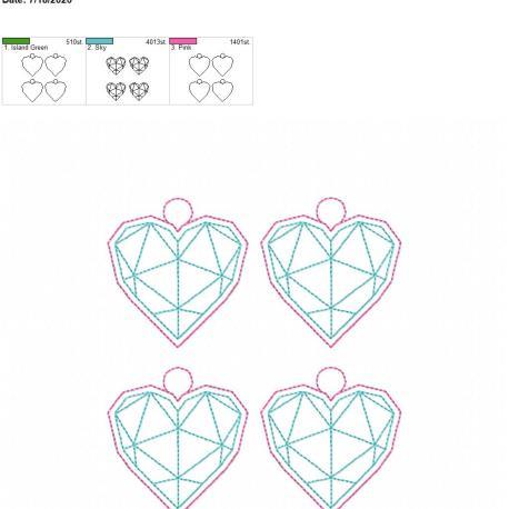 Geometric Heart eyelet 5×7 grouped