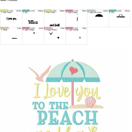 I love you to the beach and back 5×7