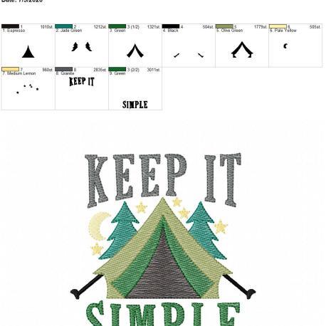 Keep it simple 5×7