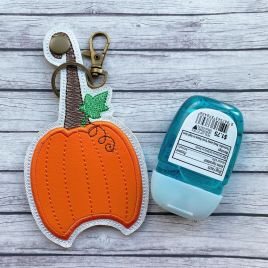 ITH Pumpkin Applique Sanitizer Holder 5×7- DIGITAL Embroidery DESIGN