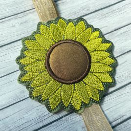 ITH – Sunflower Applique – Book Band – Digital Embroidery Design