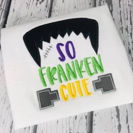 SO Franken Cute – 3 Sizes – Digital Embroidery Design
