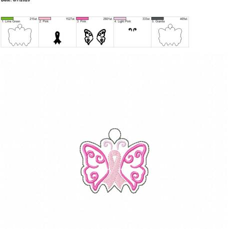 Awareness butterfly eyelet 4×4