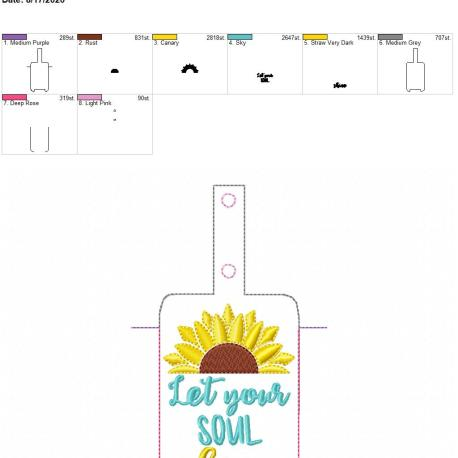 Let your soul shine lotion holder snap tab 5×7