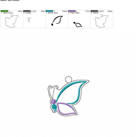 semi colon butterfly eyelet 4×4