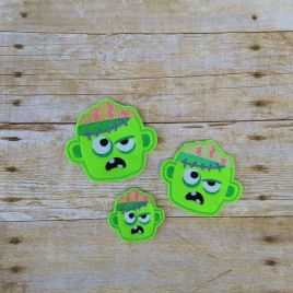 ITH – Zombie Felties – 3 sizes – 4×4 and 5×7 Grouped- Digital Embroidery Design