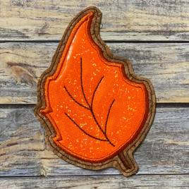 ITH Leaf Applique Coaster 2  4×4 – DIGITAL Embroidery DESIGN