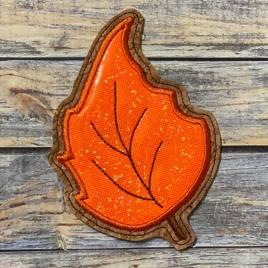 ITH Leaf Applique Coaster 2  4×4 – DIGITAL Embroidery DESIGN