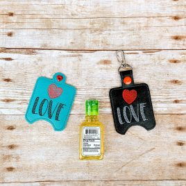 ITH Love Sanitizer Holders 4×4 and 5×7 included- DIGITAL Embroidery DESIGN