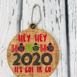 ITH – Hey Hey Ho Ho Ho Ornament 4×4 and 5×7 grouped – Digital Embroidery Design