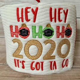 Hey Hey Ho Ho Ho – 3 Sizes – Digital Embroidery Design